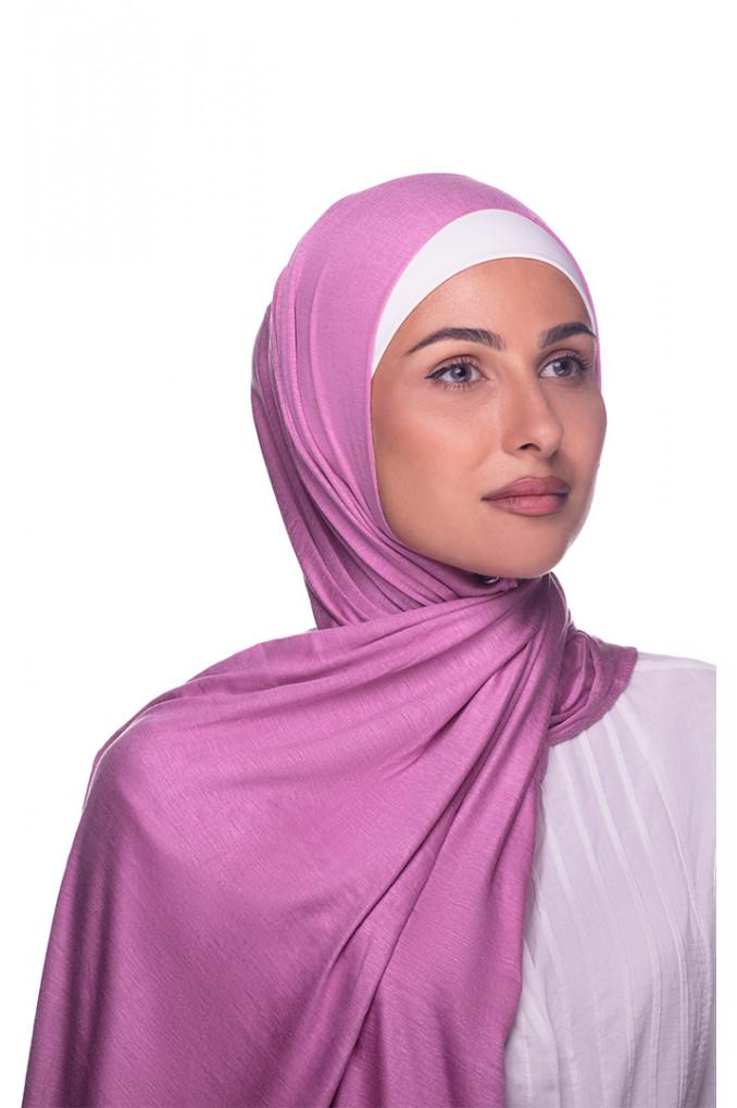Cherry pink Plain Cotton Shawl