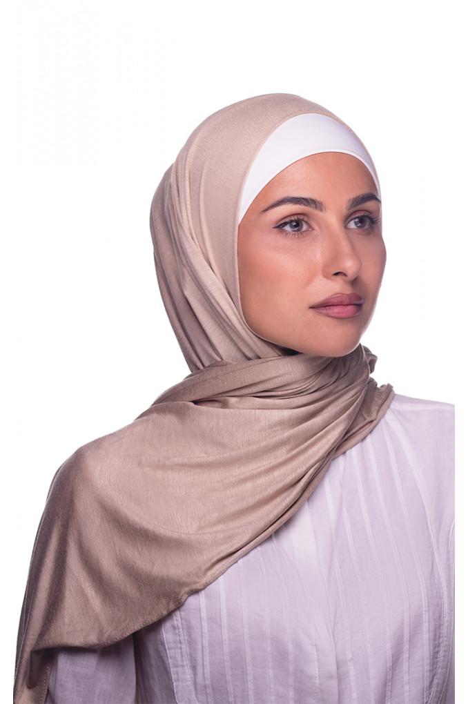 Beige Plain Cotton Shawl