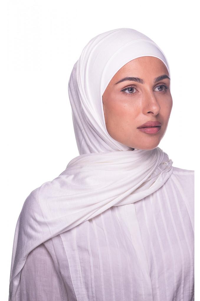 White Plain Cotton Shawl