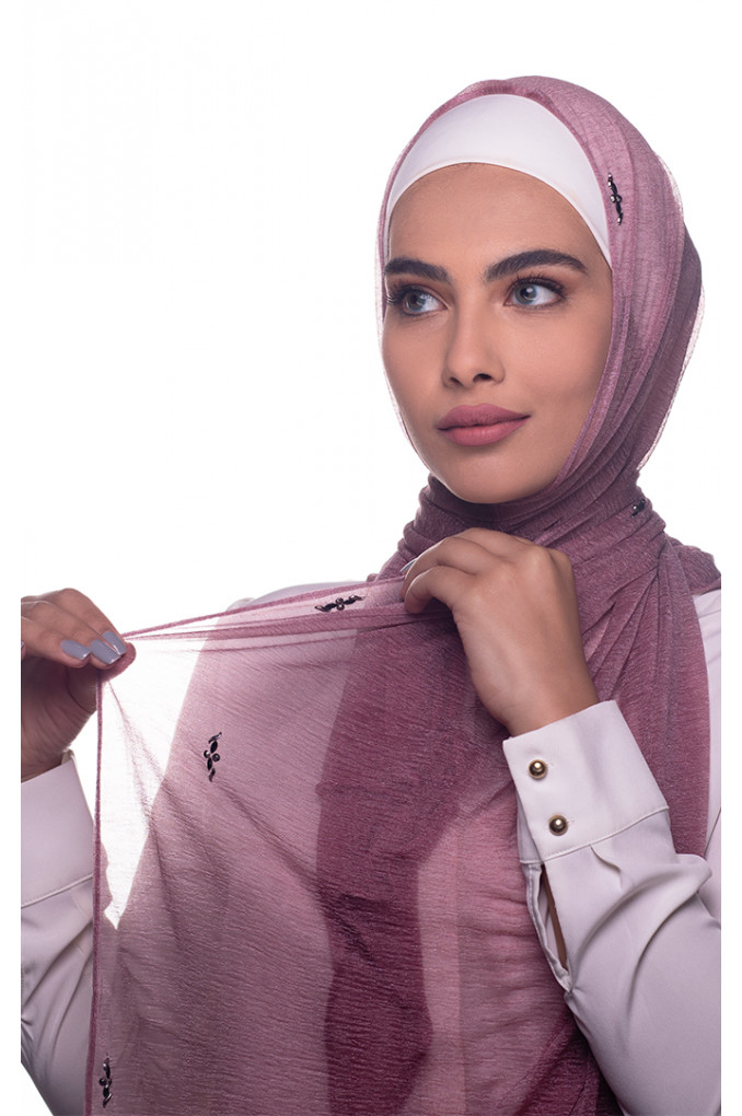Rose Pink plain Cashmere shawl