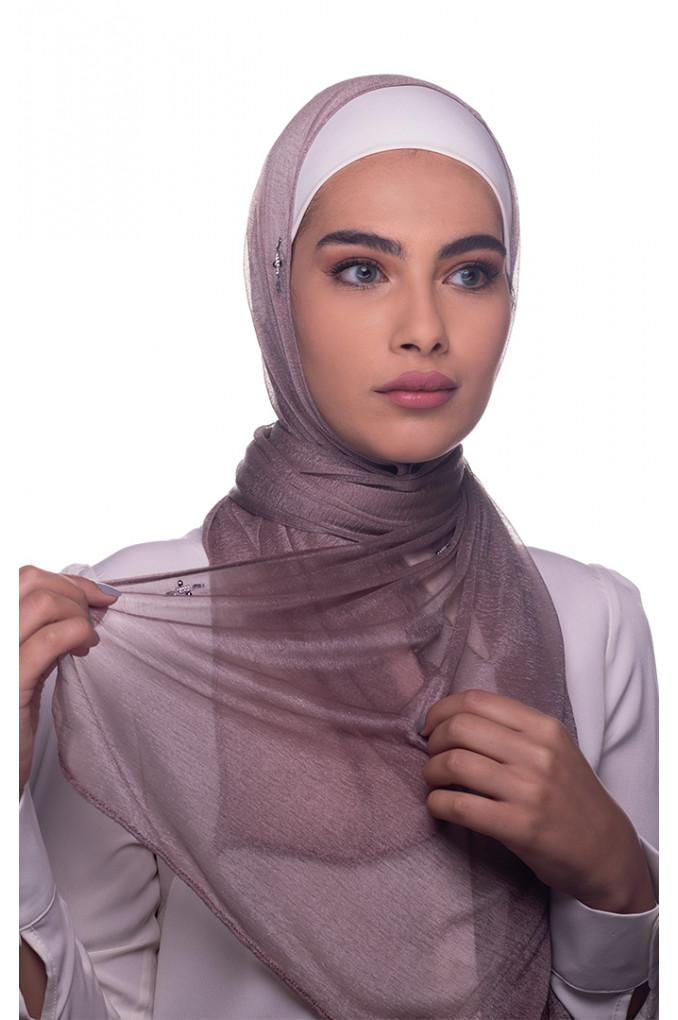 Cappuccino plain Cashmere shawl
