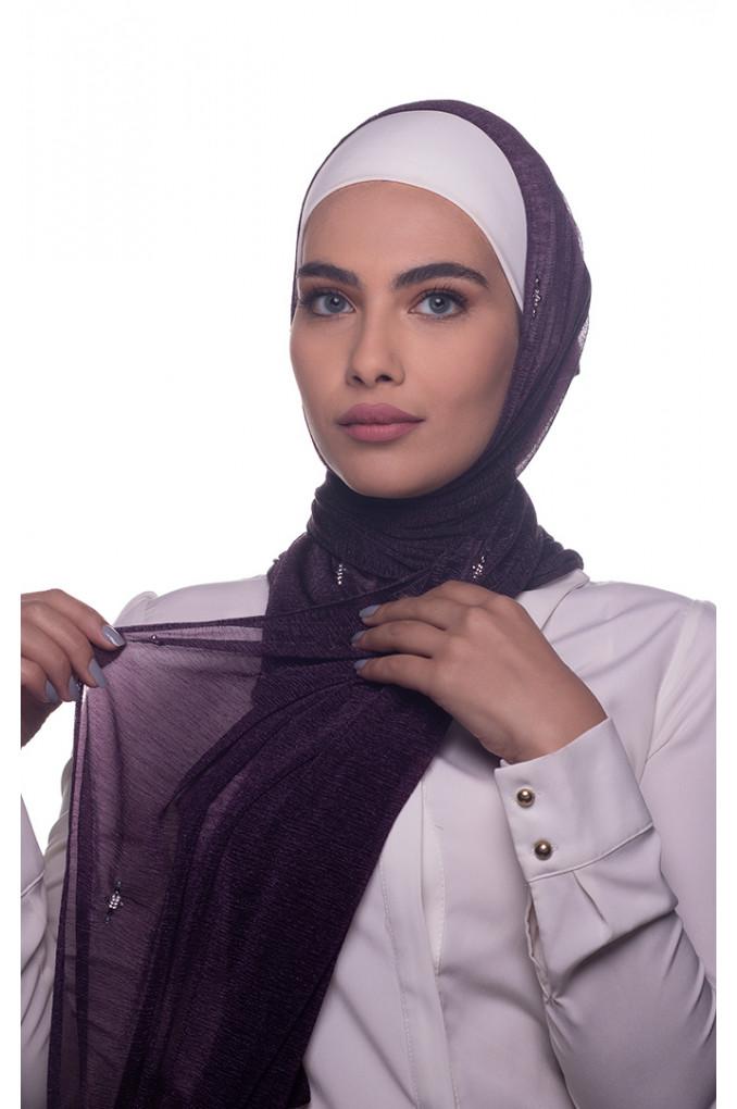 Purple Plain Cashmere Shawl