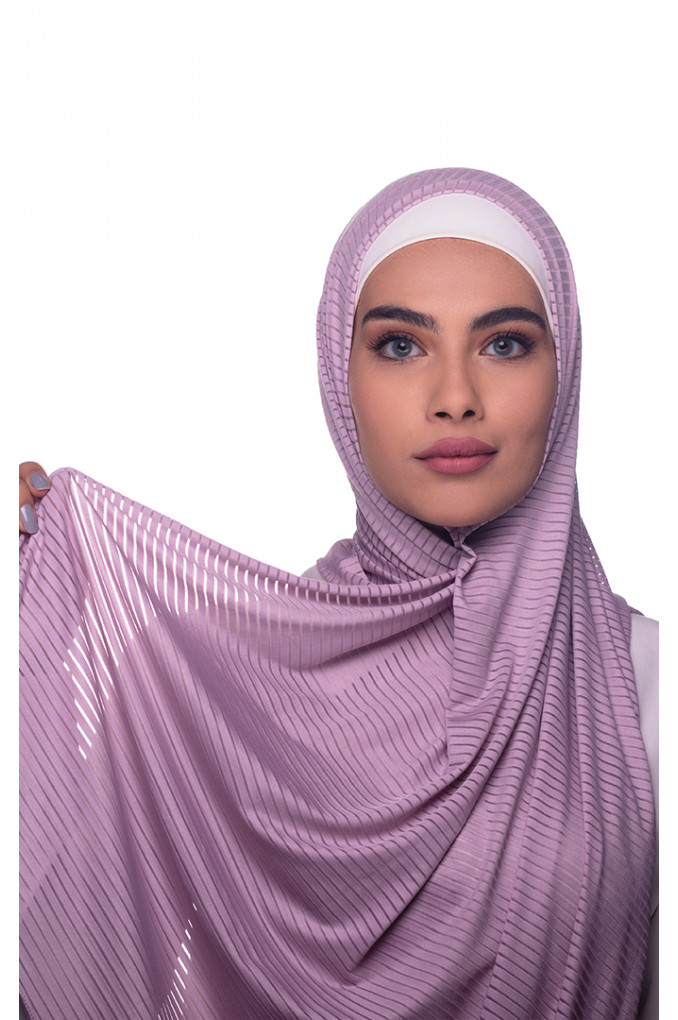 Purple Plain Polyester and Lycra Shawl