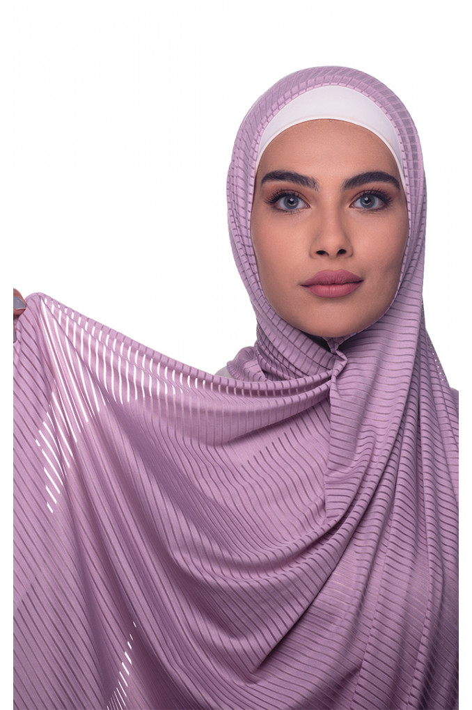 Pink Plain Polyester and Lycra Shawl