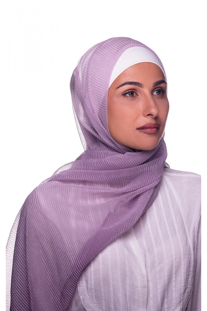 Baby-Purple Plain Cashmere Shawl