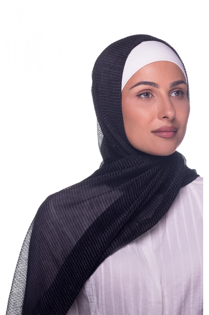 Black Plain shawl Cashmere