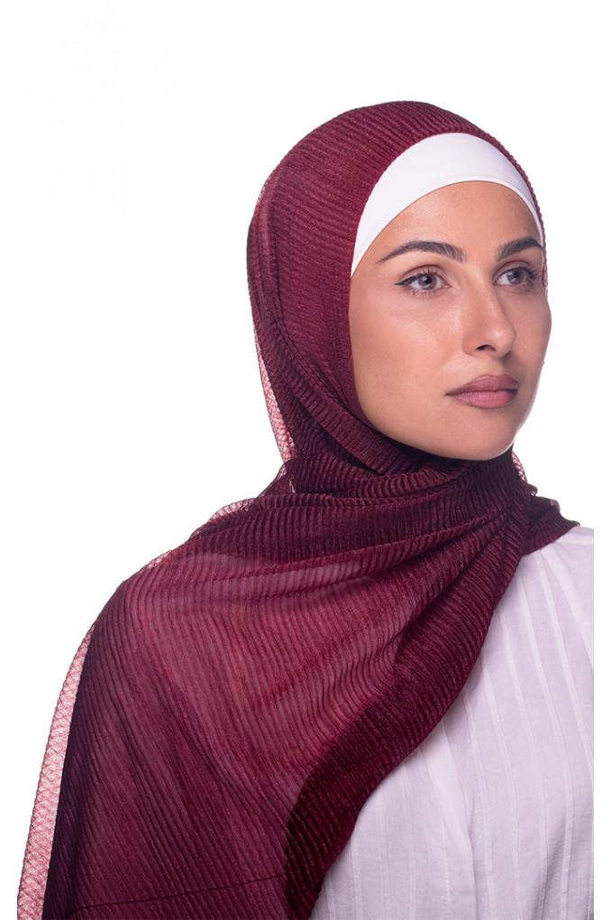 Vinous Plain shawl Cashmere