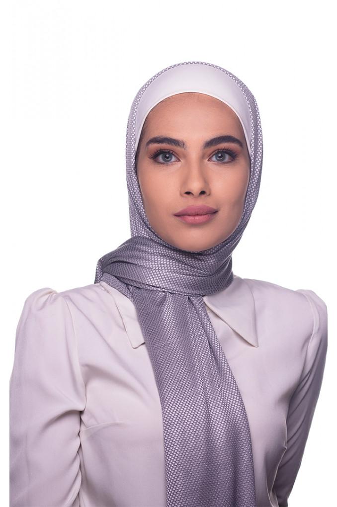 Grey cotton patterned Shawl