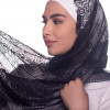Black Plain Shawl Made From Dental and Cotton