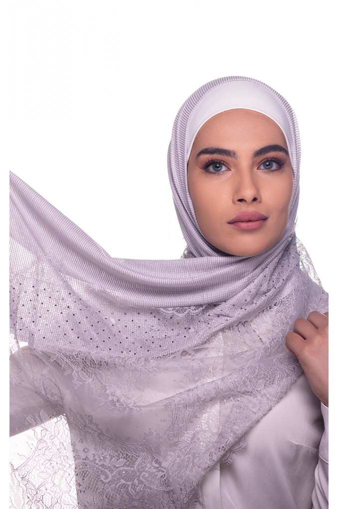 Baby Silver Plain Shawl Made From Dental and Cotton