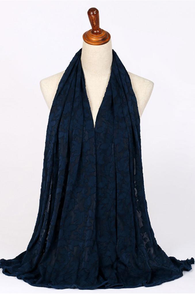 Winter Dark-Blue Scarf