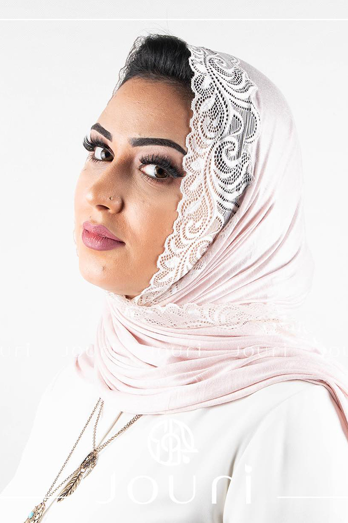 Blush Plain Shawl Made From Dental and Cotton