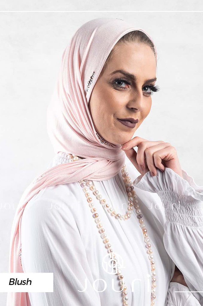 Blush plain Cotton shawl