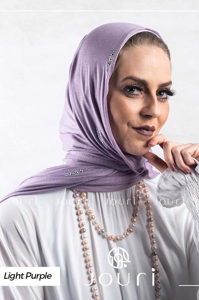Light Purple plain Cotton Shawl