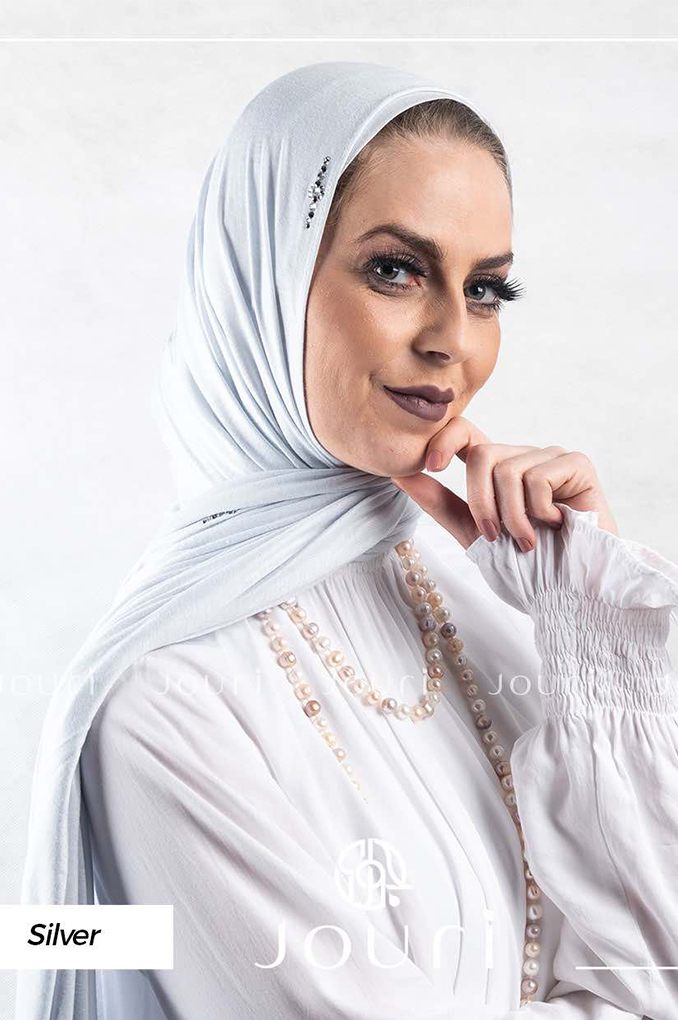 Silver plain Cotton shawl