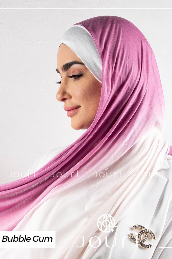 Cherry pink and Ivory Multicolored cotton Stylish Shawl
