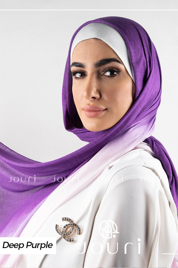 Deep Purple and Ivory Multicolored cotton Stylish Shawl