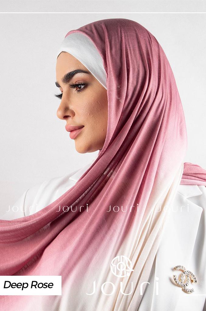 Deep rose Multicolored cotton Stylish Shawl