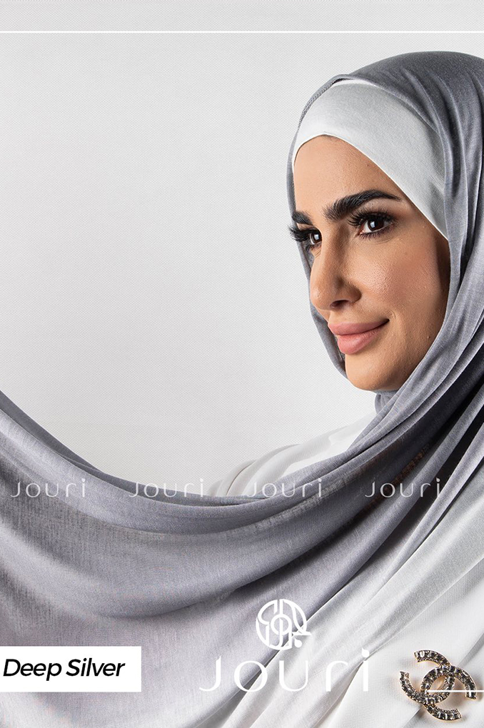 Deep Silver and Ivory multi colored cotton Stylish Shawl