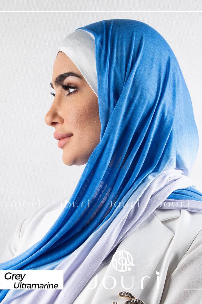 Dark Blue and Light Blue Multicolored cotton Stylish Shawl