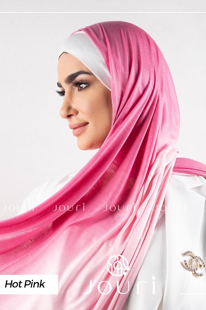 Hot and light pink Multi colored cotton Stylish Shawl