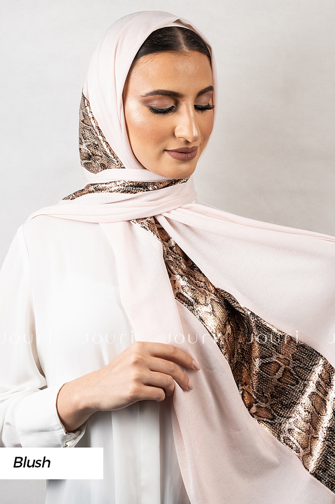 Blush Plain Polyester Shawl