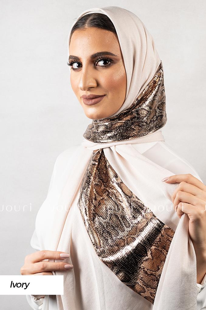 Ivory Plain Polyester Shawl