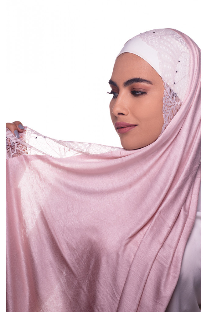 Nude plain Shawl made from Dental and Cotton