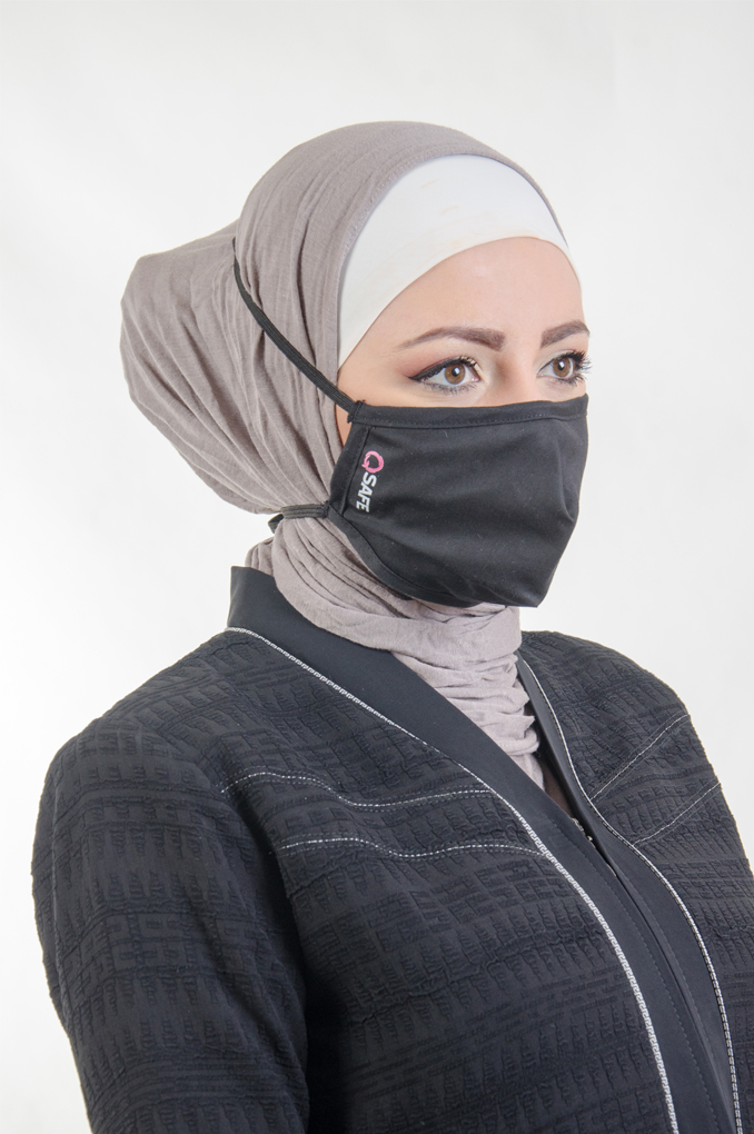 Black Medical Fabric Face mask