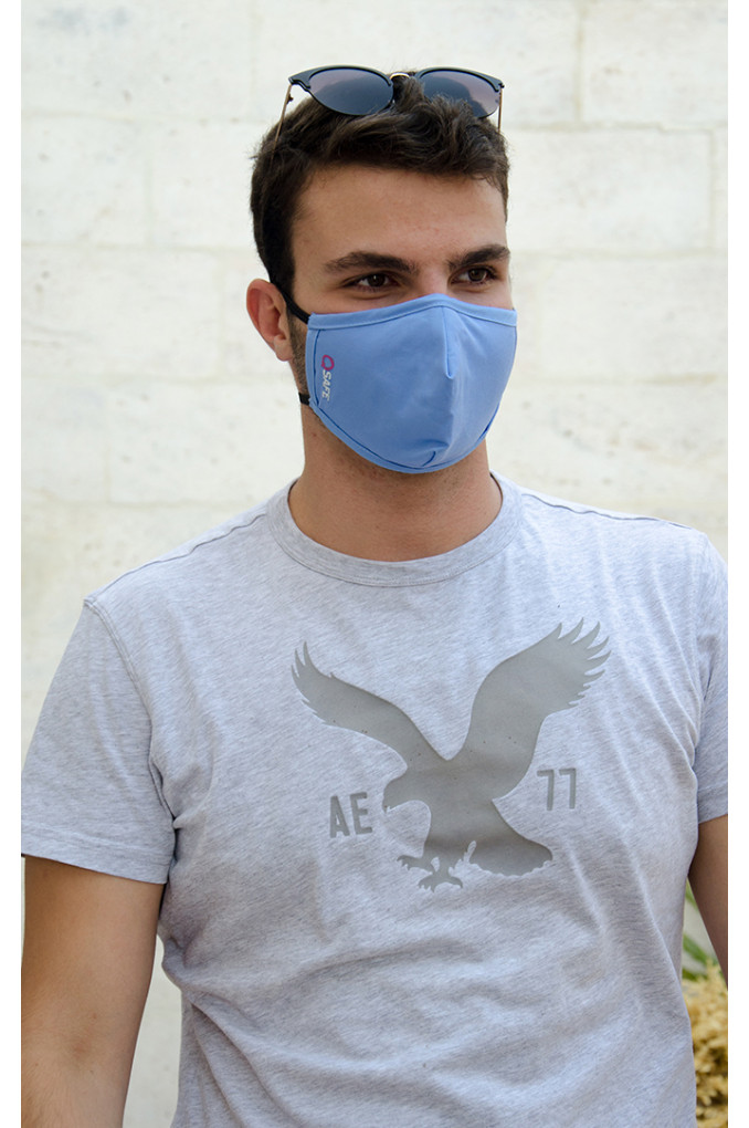 Blue Medical Fabric Face mask