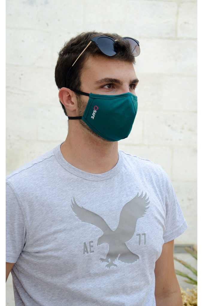 Green Medical Fabric Face mask