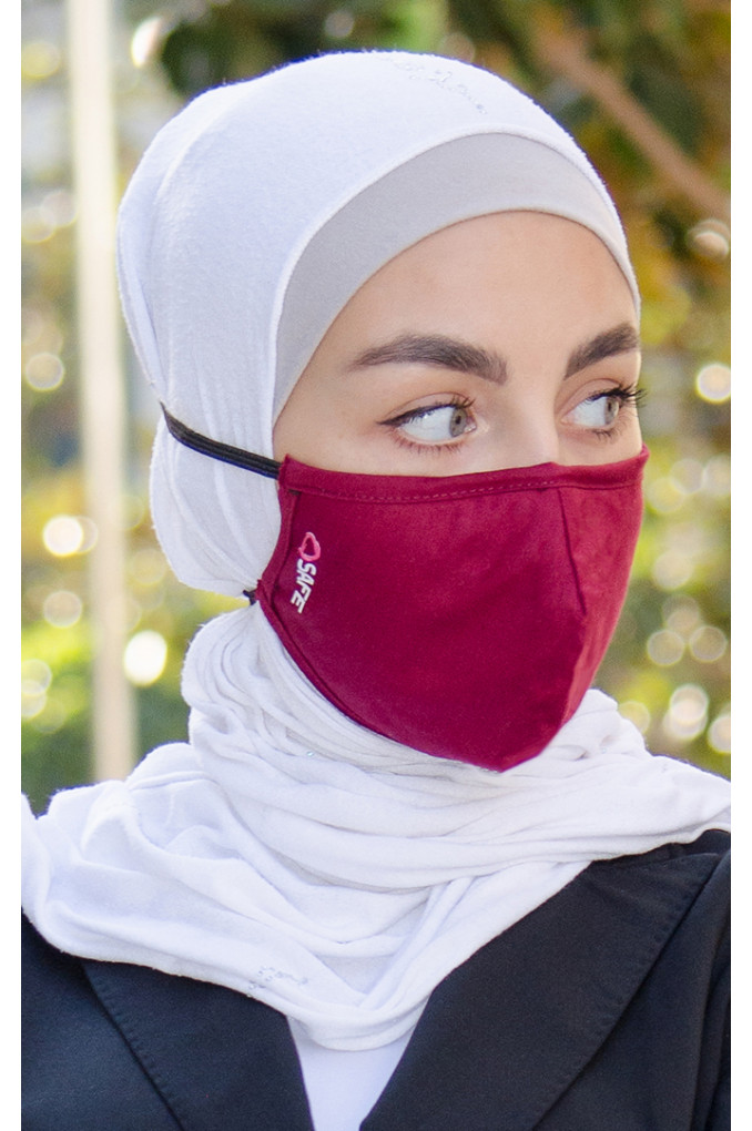 Maroon Medical Fabric Facemask