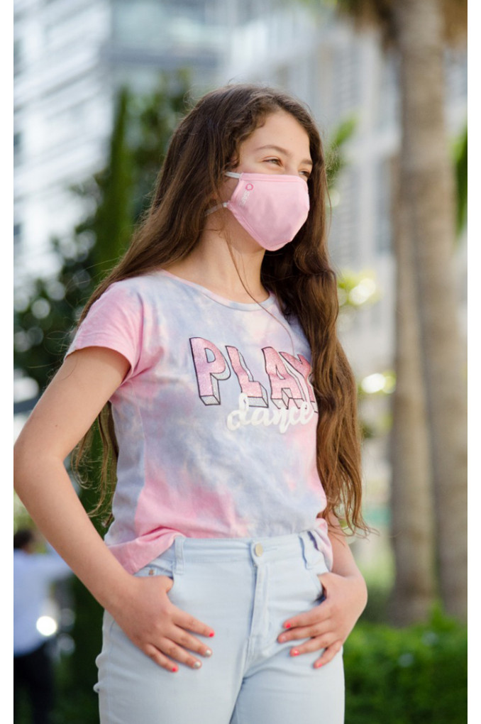 Pink Medical Fabric Facemask
