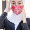 Red and white patterned Fabric Face mask
