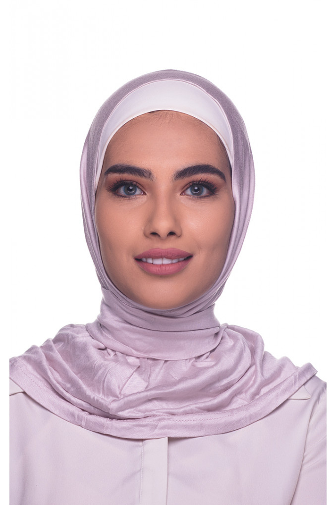 Rose Amira Hijab made from Cotton has a clips to close