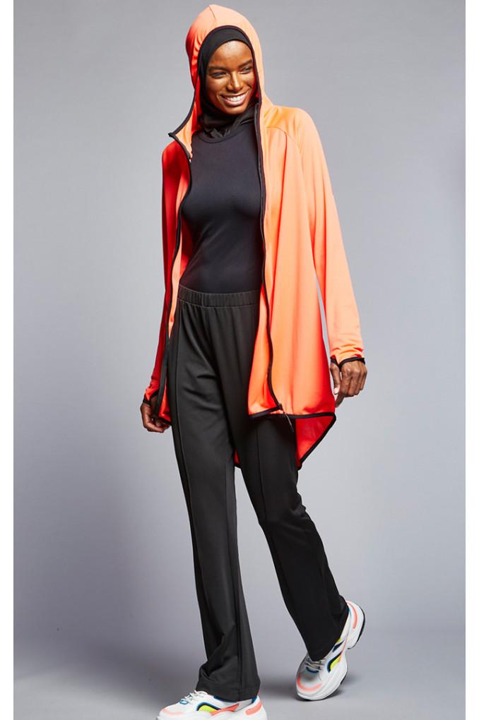 Black and Orange Islamic Training Suit