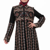 Embroidered Black Fursan Abaya