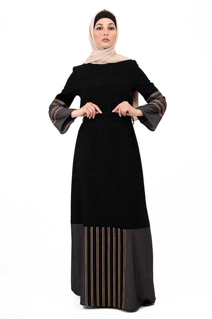 Simple Embroidery Abaya