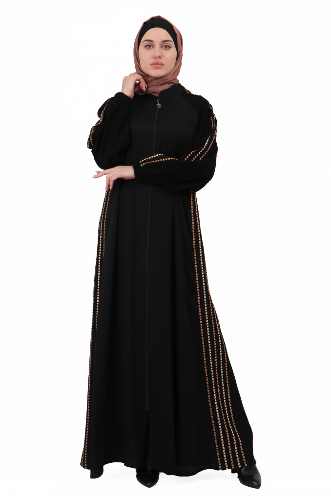 Modern Simple embroidered Abaya