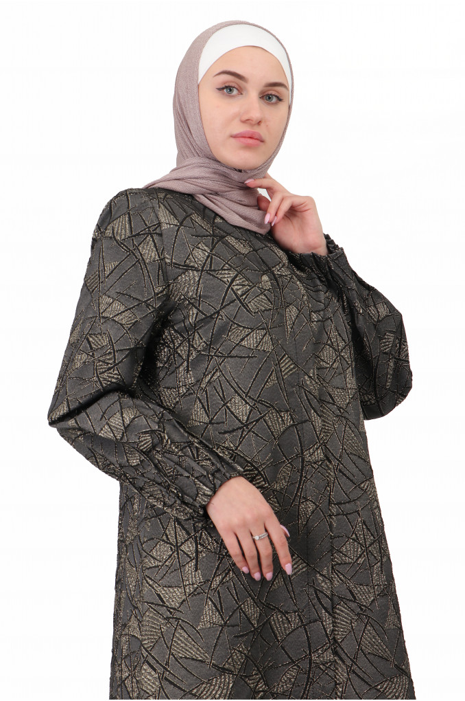 Formal multi colored stylish lined Abaya