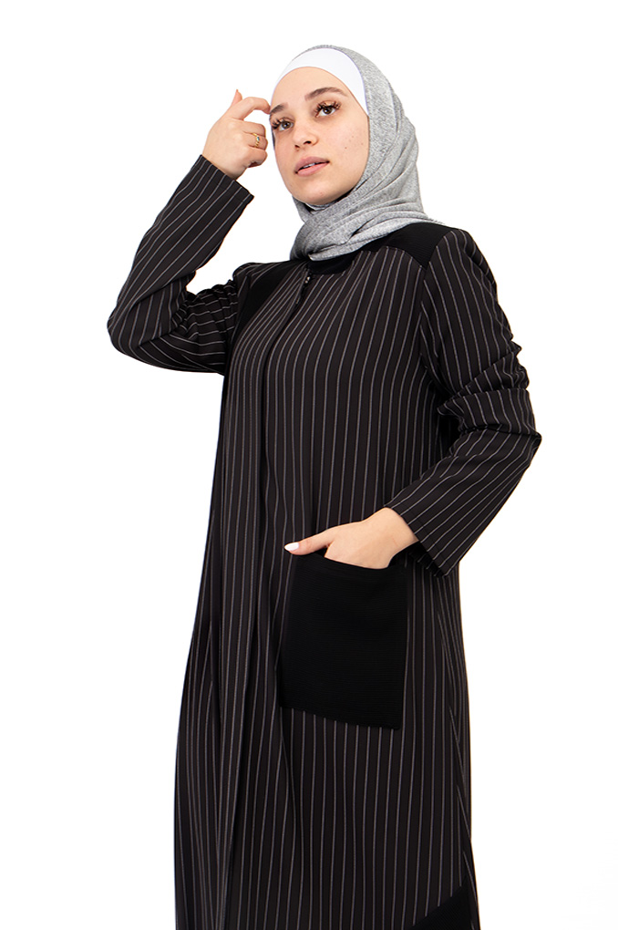 Elegant Semi Formal  Black Abaya
