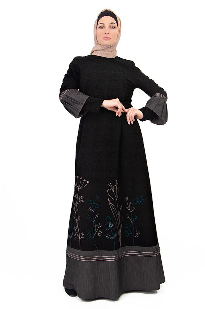 Semi Formal Abaya With Elegant Subtle