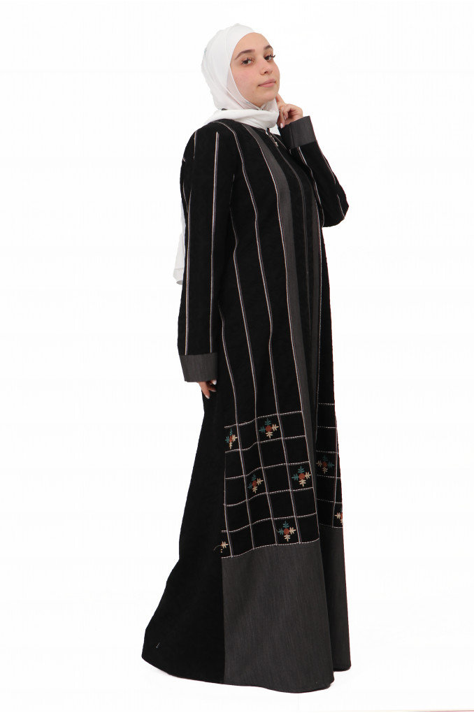 Modern Embroidered Abaya