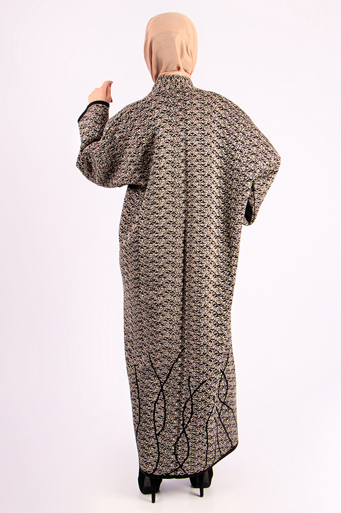 Wool winter patterned Abaya