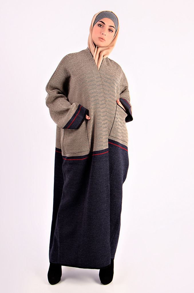 Wool winter patterned Abaya
