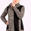 Casual Winter Suede and Knitwear Jilbab