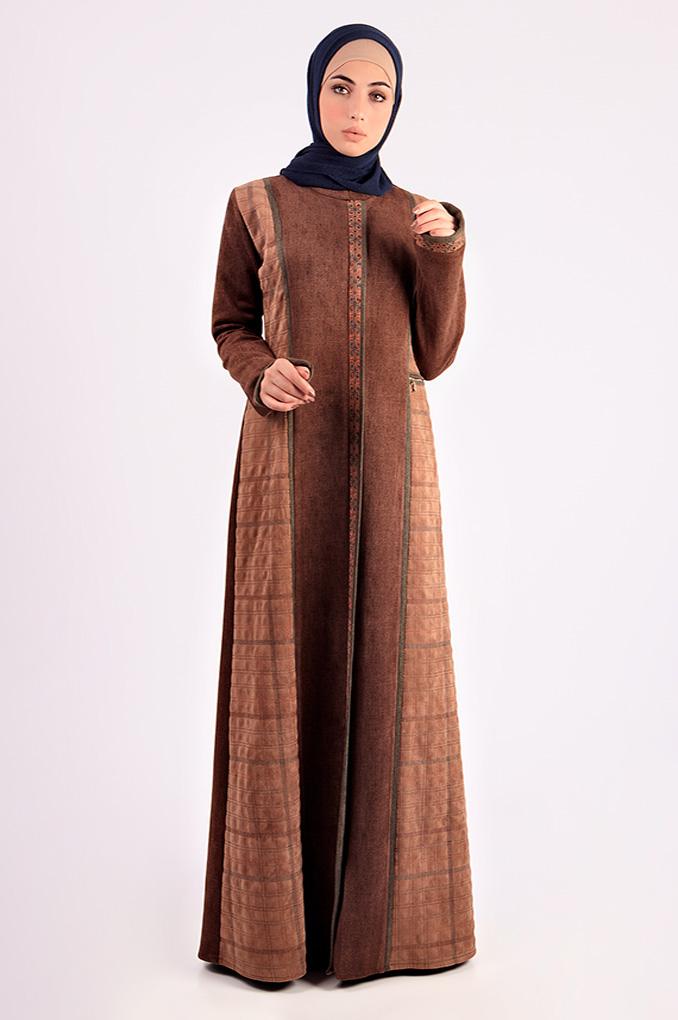 Formal Winter Suede Abaya
