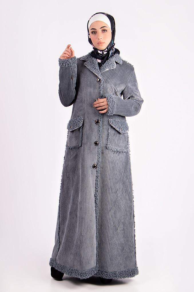Casual Winter Corduroy Abaya