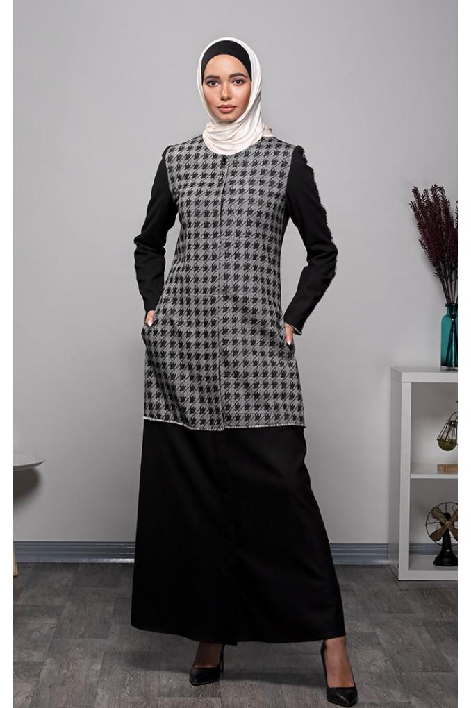 Casual Winter Checkered  Abaya