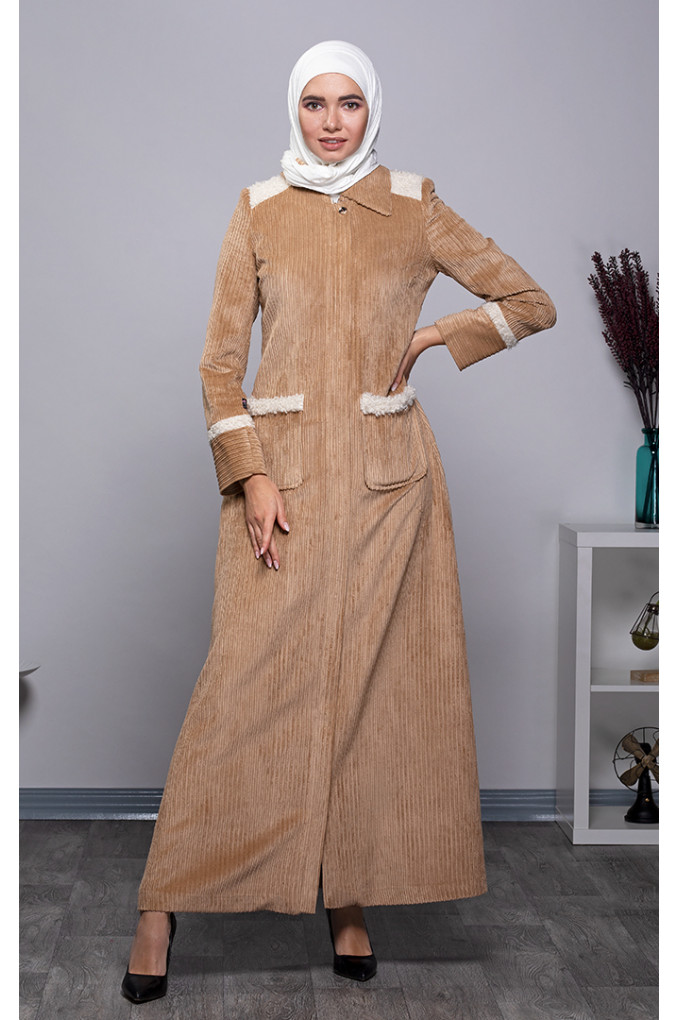 Casual Winter Corduroy Jilbab